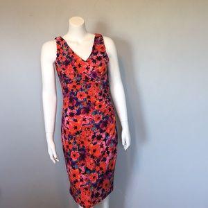 NWOT Evan Picone Floral Ruched Dress